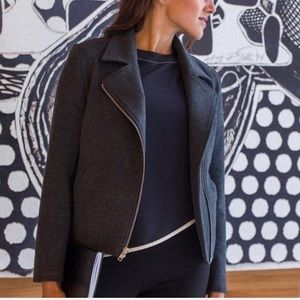 Betabrand SoMaMoto grey motorcycle jacket coat